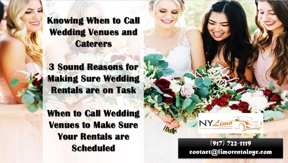 Knowing When to Call Wedding Venues and Caterers
